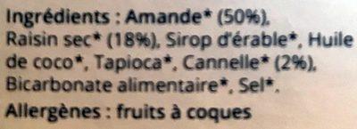 Cannelle Raisin - Ingredients