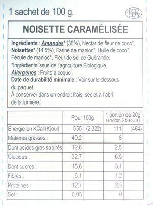 Noisette Caramelisée - Voedingswaarden