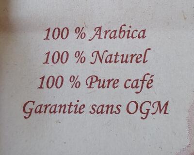Café L'Afric'Ain - Ingrédients
