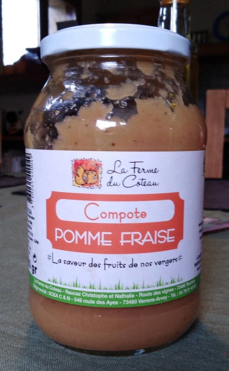 Compote pomme fraise - Product - fr