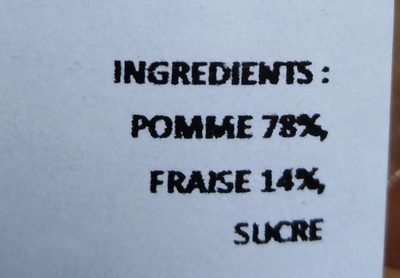 Compote pomme fraise - Ingredients