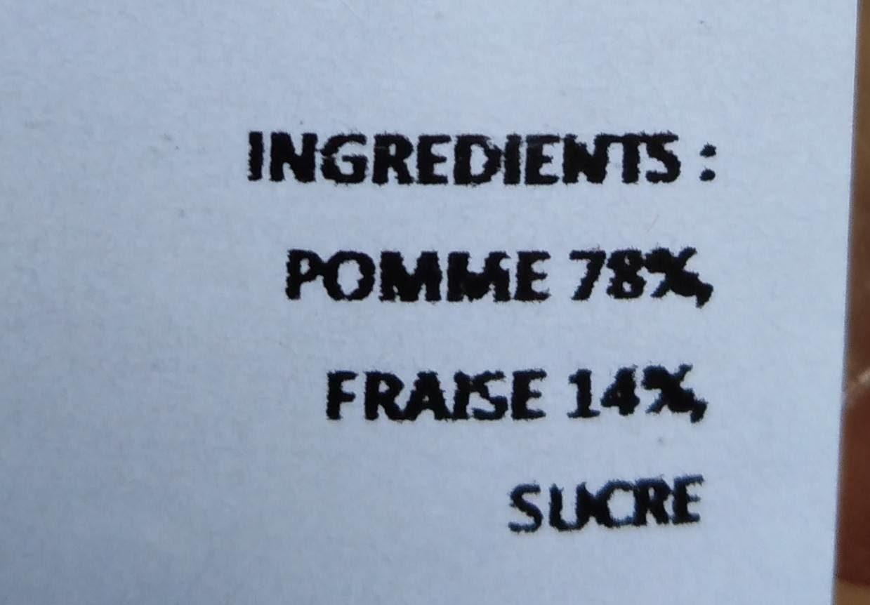 Compote pomme fraise - Ingredients - fr