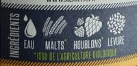 Blonde Brasserie Alaryk - Ingrediënten - fr