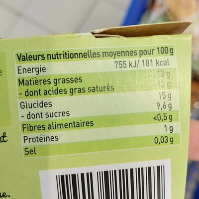 Les petites pousses au lait de coco - Informations nutritionnelles - fr