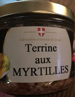Terrine myrtille - Product - fr