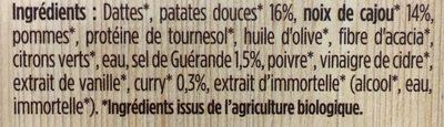 Patate douce - Cajou - Curry - Ingrediënten - fr