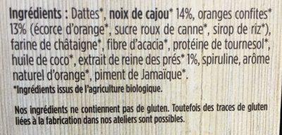 Barre Femme Performance Orange-cajou-reine des prés - Ingredients