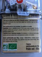 Barres Hommes Performance Cacao-noisette-vanille - Nutrition facts