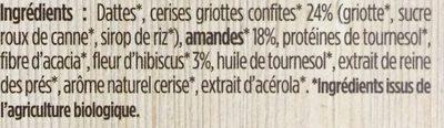 Cerise amande hibiscus - Ingredients