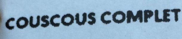 Couscous Complet - Ingredients