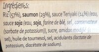Saumon Teriyaki avec du riz - Ingredients - fr