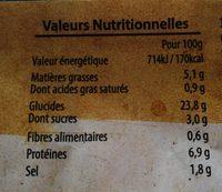 Wok de nouilles chinoises - Nutrition facts