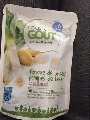 Fondue de poireaux, pommes de terre, Cabillaud-Good Gout-190g - Product - fr