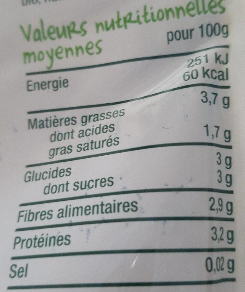 Haricot vert boeuf-Good Gout-190g - Voedingswaarden