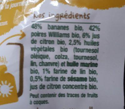 Le petit déj poire-Good Gout-70g - Ingrediënten