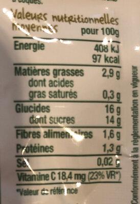 Le petit déj poire-Good Gout-70g - Voedigswaarden