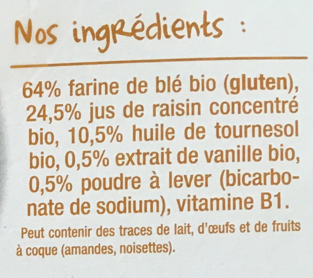 Les biscuits tout ronds vanille-Good Gout-80g - Ingredients - fr