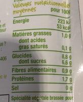 Brassé végétal au lait d'amande poire-Good Gout-90g - Nutrition facts - fr