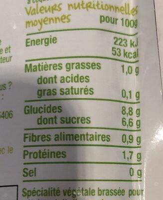 Brassé végétal au lait d'amande poire-Good Gout-90g - Voedingswaarden - fr