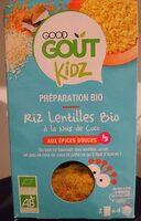 Riz lentilles Bio à la noix de coco-Good Gout Kidz-240g - Product - fr