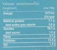 Riz lentilles Bio à la noix de coco-Good Gout Kidz-240g - Voedingswaarden - fr
