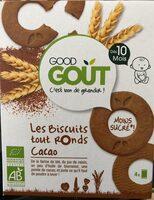 Les biscuits tout ronds cacao - Produit - fr