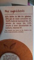 Les biscuits tout ronds cacao - Ingrédients - fr