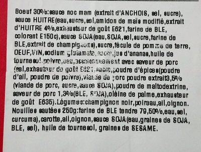 Crevette sauce aigre-douce et riz cantonnais - Ingrediënten
