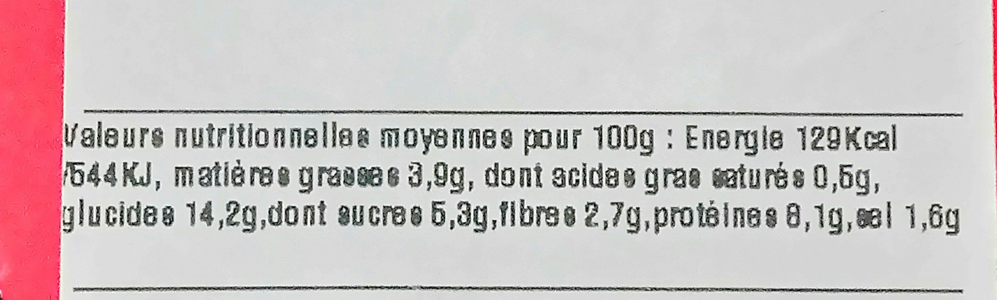 Crevette sauce aigre-douce et riz cantonnais - Voedingswaarden