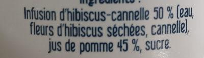 Hibiscus, cannelle et jus de pomme - Ingrediënten - fr