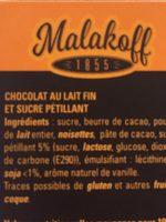 Barres chocolat au lait - Ingrédients - fr