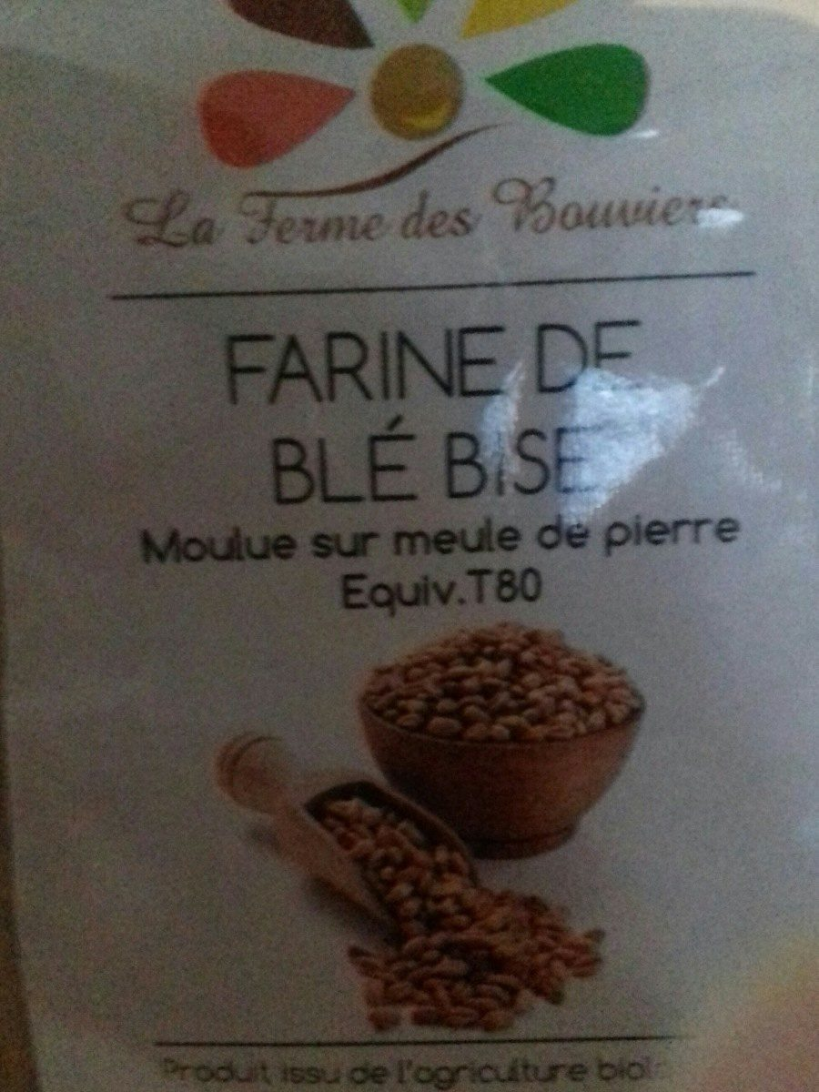 Farine de blé bise - Ingrediënten - fr