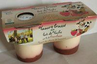 Yaourt brassé au lait de vache framboise - Produit - fr
