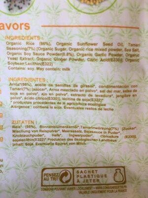 Crackers fins de riz Bio - Tamari - Ingredientes - es