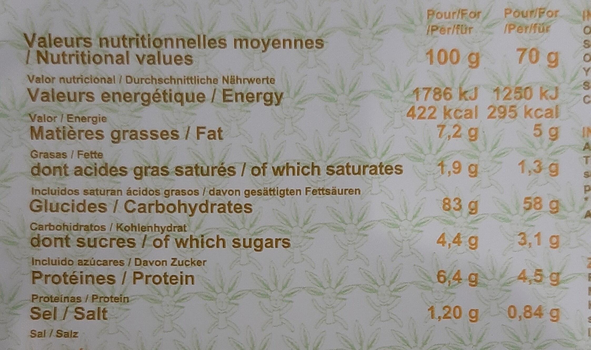 Crackers fins de riz Bio - Tamari - Información nutricional - fr