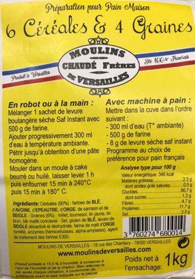 6 Céréales & 4 Graines - Product