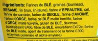 6 Céréales & 4 Graines - Ingredients