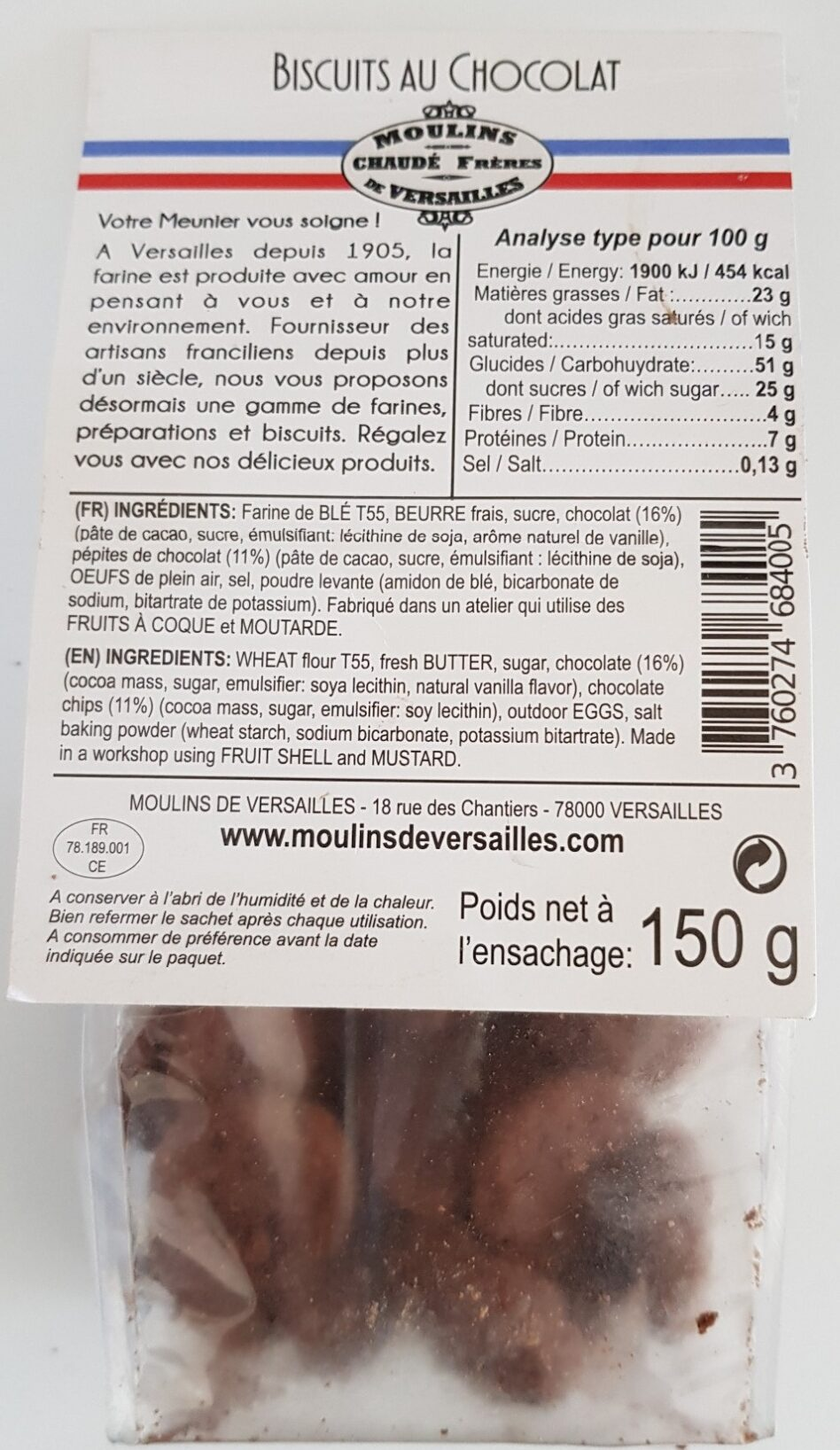 Biscuits au Chocolat - Product - fr