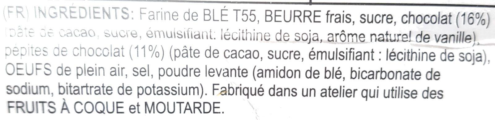 Biscuits au Chocolat - Ingrediënten - fr