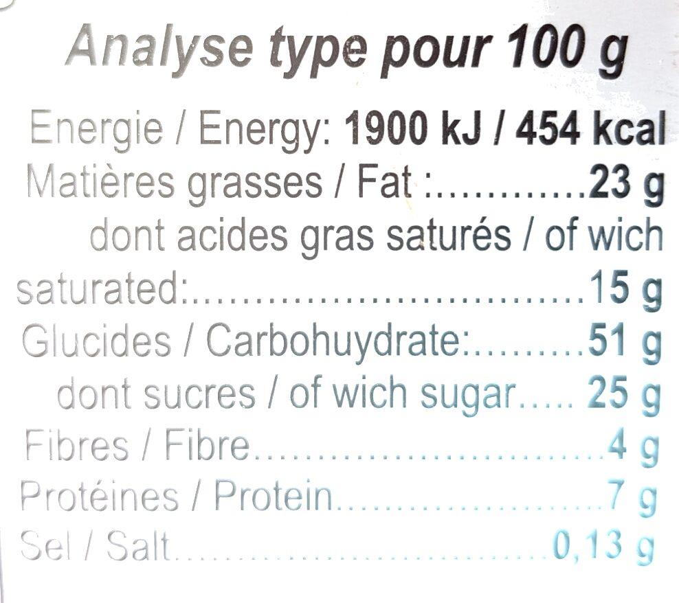 Biscuits au Chocolat - Voedingswaarden - fr