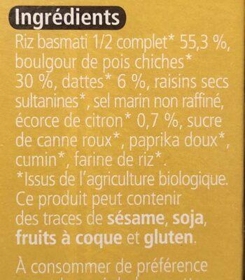 Riz facon zanzibar protéiné - Ingrédients