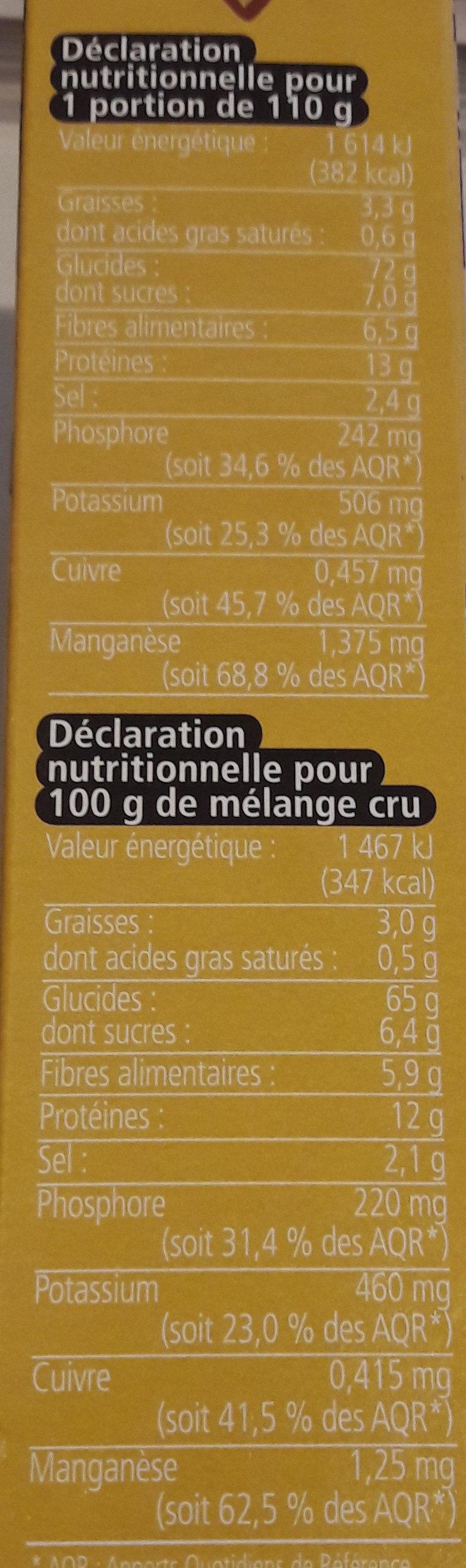Riz facon zanzibar protéiné - Informations nutritionnelles - fr