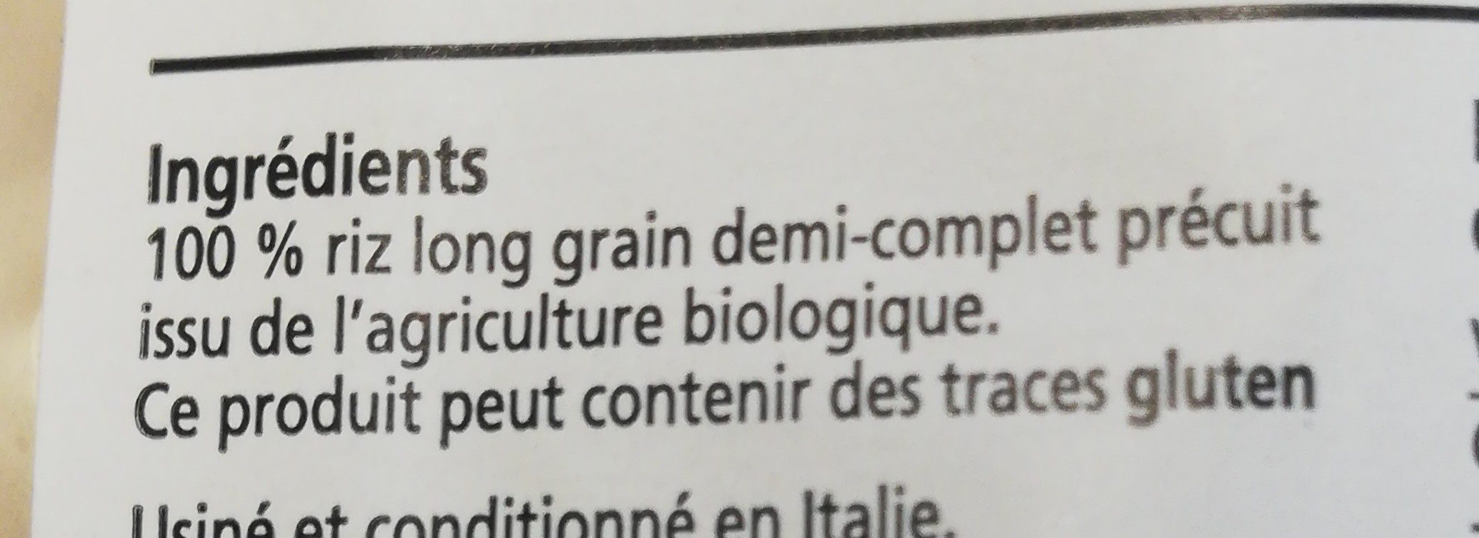 Riz à poêler - Ingrediënten - fr