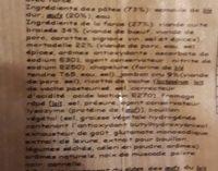Cappelletti viande jambon cru - Ingrediënten