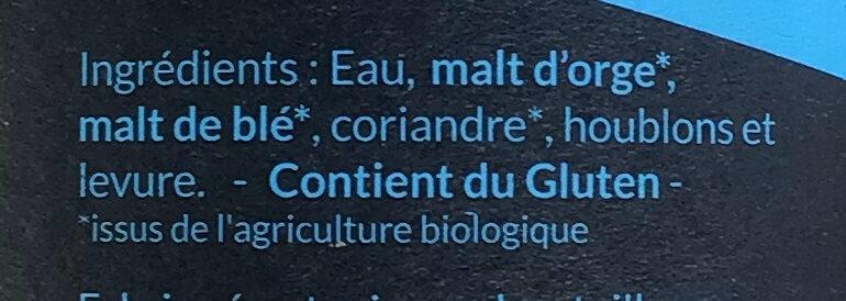 Biere blanche - Ingrédients - fr