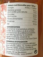 Sauce Tomate Bio De Variete Ancienne Andine Cornue - Nutrition facts - fr