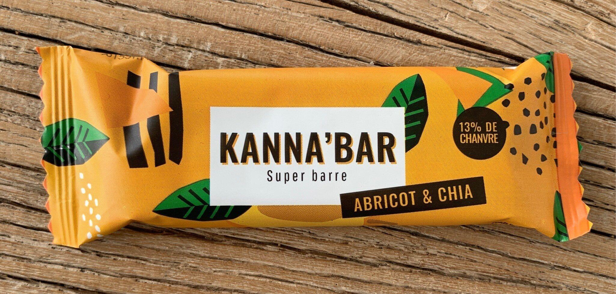 Kanna'bar abricot chia - Product - fr