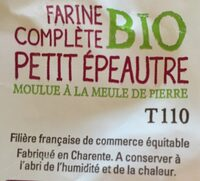 Farine complete Petit Epeautre - Ingredients - fr