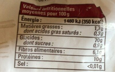 Farine complete Petit Epeautre - Nutrition facts - fr