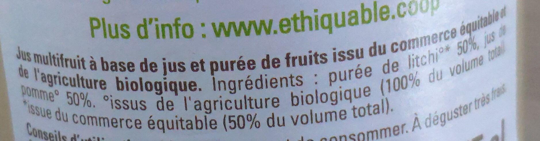 Jus Litchi Pomme - Ingrédients - fr